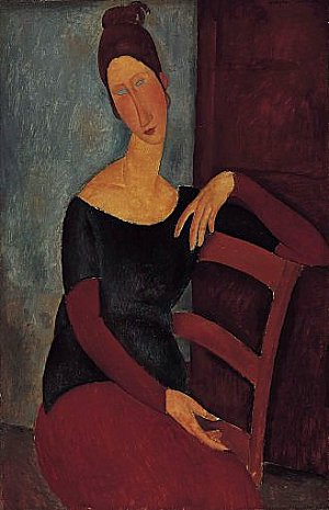 Portrait of the Artist's Wife, Jeanne Hebuterne, 1918, Amedeo Modigliani
