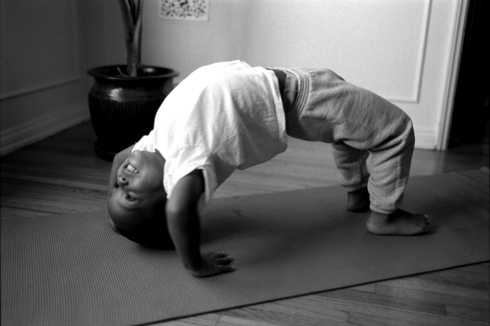 "myles, 29 mos., <i>Urdvha Dhanurasana</i> ""Upward Facing Bow Pose"""