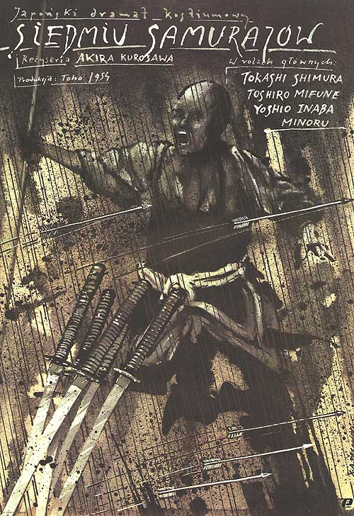Polish poster for <i>Seven Samurai</i>, 1954