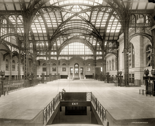 Penn Station, circa 1910, Detroit Publishing Company