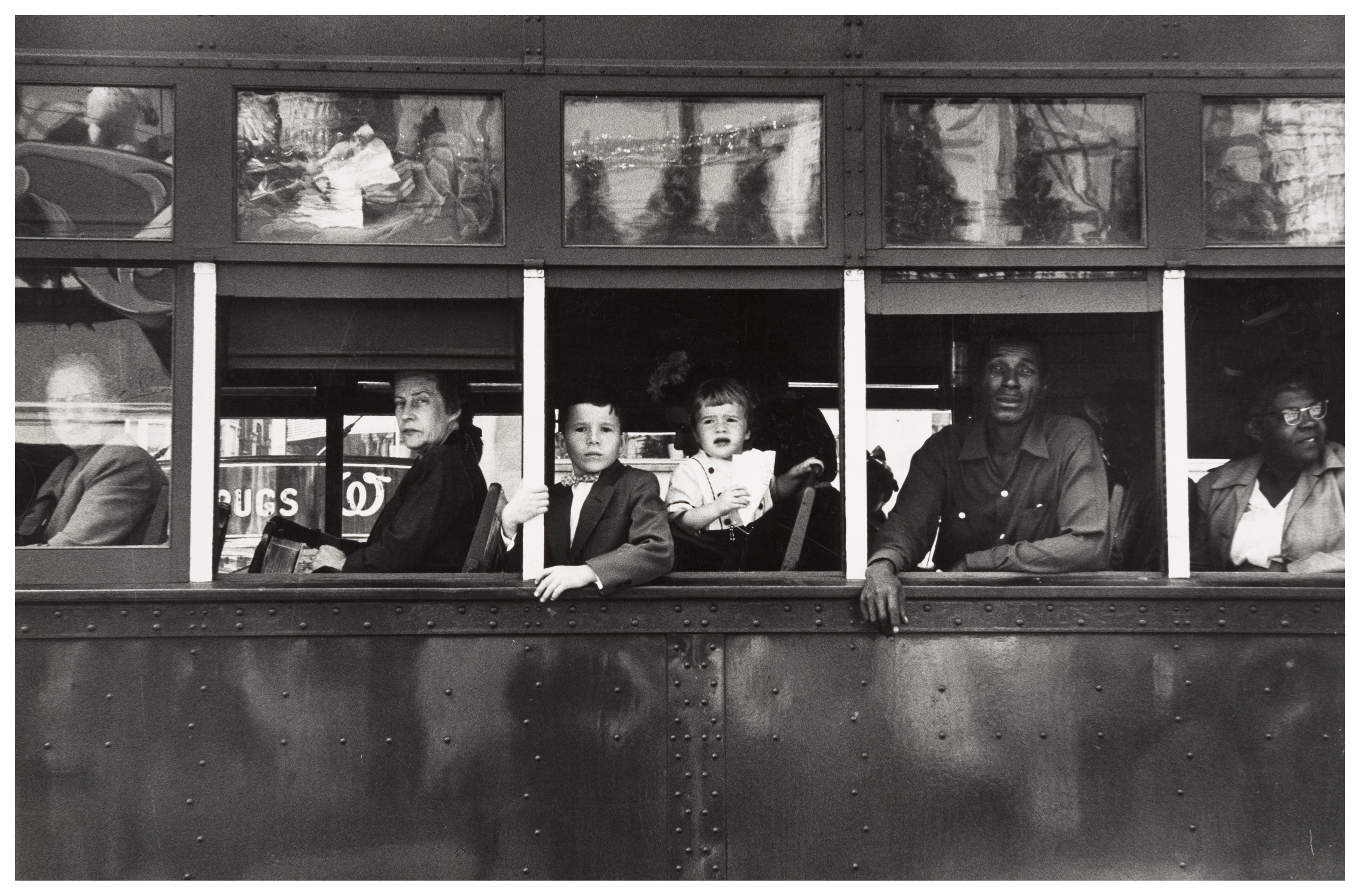 "Trolley, New Orleans, 1955, Robert Frank ""The Americans"""
