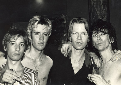 Dave Treganna, Dave Parsons, Jim Carroll and Stiv Bators, NYC, 1981, unknown photographer