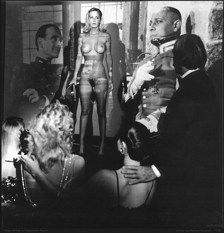 Hugh Hefner's screening room by Helmut Newton