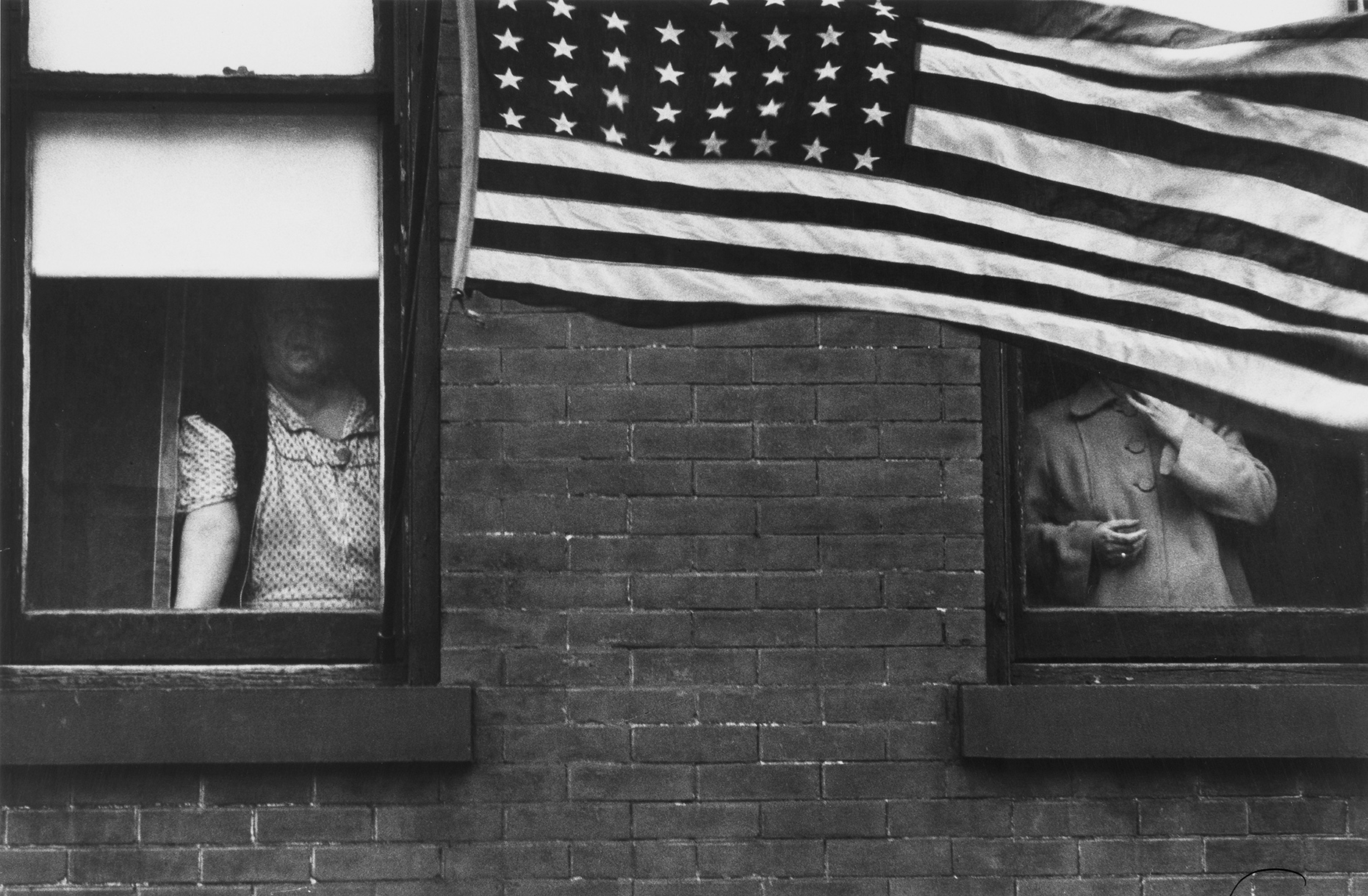 "Parade, Hoboken, New Jersey, 1955, Robert Frank ""The Americans"""