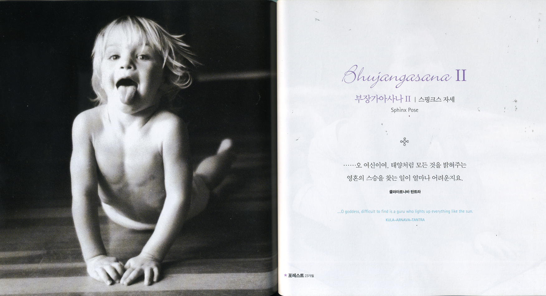 Forrest, from the Korean edition of <i>Born Yogis</i> © Susie Arnett, Doug Kim