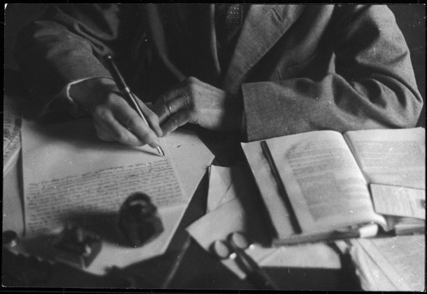 VILLAGE OF BRANGUES, France—French writer and diplomat Paul Claudel, 1945. © Henri Cartier-Bresson / Magnum Photos