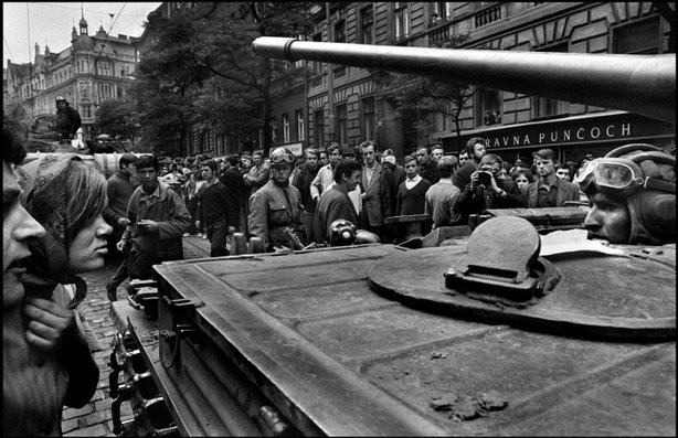 PRAGUE, Czechoslovakia—Near the radio headquarters, Aug. 21, 1968.  © Josef Koudelka / Magnum Photos