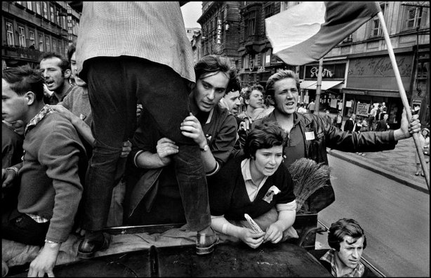 PRAGUE, Czechoslovakia—The invasion by Warsaw Pact troops, August 1968. © Josef Koudelka / Magnum Photos