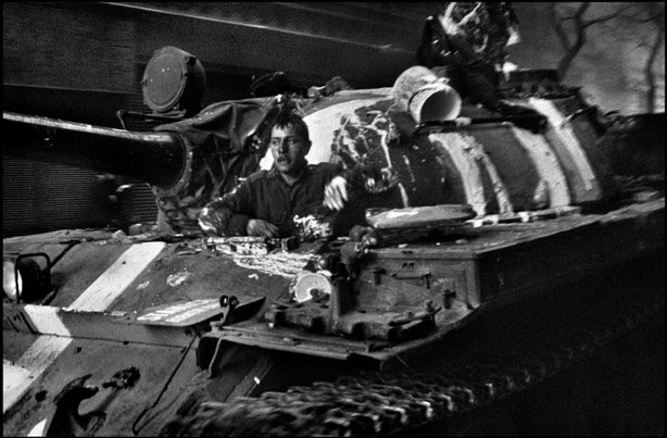 PRAGUE, Czechoslovakia—Warsaw Pact tanks invade Prague, August 1968. © Josef Koudelka / Magnum Photos