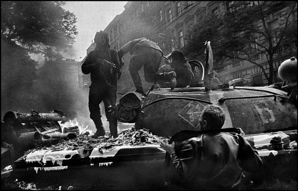 PRAGUE, Czechoslovakia—Near the radio headquarters, August 1968. © Josef Koudelka / Magnum Photos