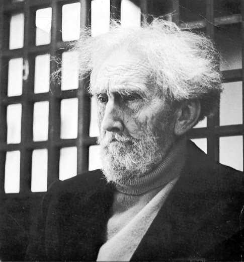 Ezra Pound, Easter 1971,  Burano, Italy by Franz Larese