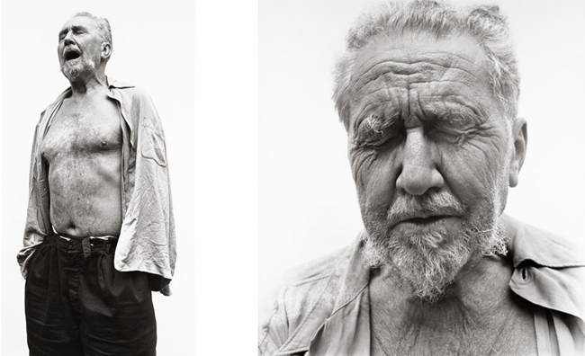 Ezra Pound at William Carlos Williams' house in 1958 by Richard Avedon