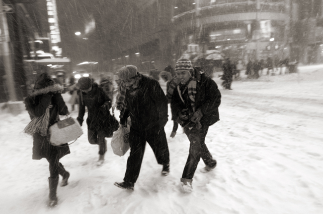 Times Square, Blizzard Dec 19, 2009 © Doug Kim