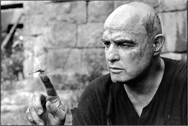 "Marlon Brando on the set of ""Apocalypse Now"" in 1976, Mary Ellen Mark"