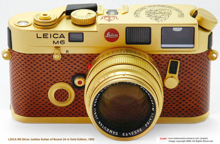 Leica M6 Sultan of Negeri Brunei Darussalam silver jubilee 24ct gold edition