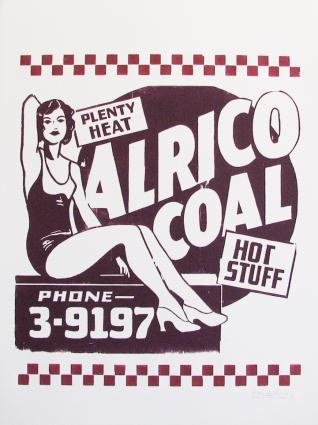 Alrico Coal. Hatch Show Print, Nashville