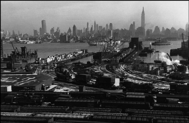 NEW JERSEY—Manhattan and the Hudson River, seen from Hoboken, 1947. © Henri Cartier-Bresson / Magnum Photos