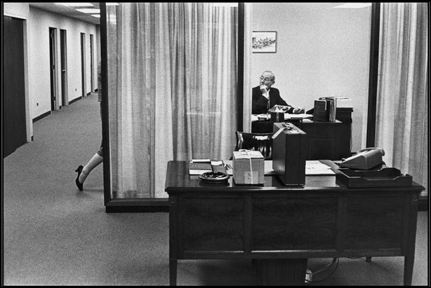 NEW YORK CITY—Manhattan Bankers Trust, 1960.  © Henri Cartier-Bresson / Magnum Photos