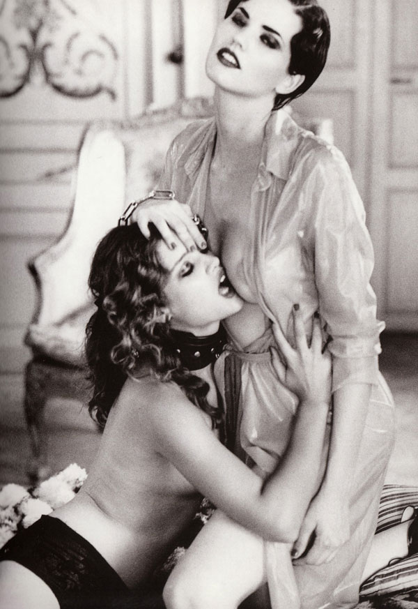 Julie Ordon as Marie-Louise; Tina Davis as the Baroness; Revenge by Ellen von Unwerth