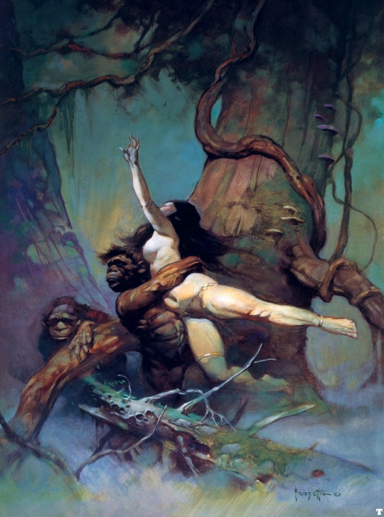 Captive Princess, Frank Frazetta