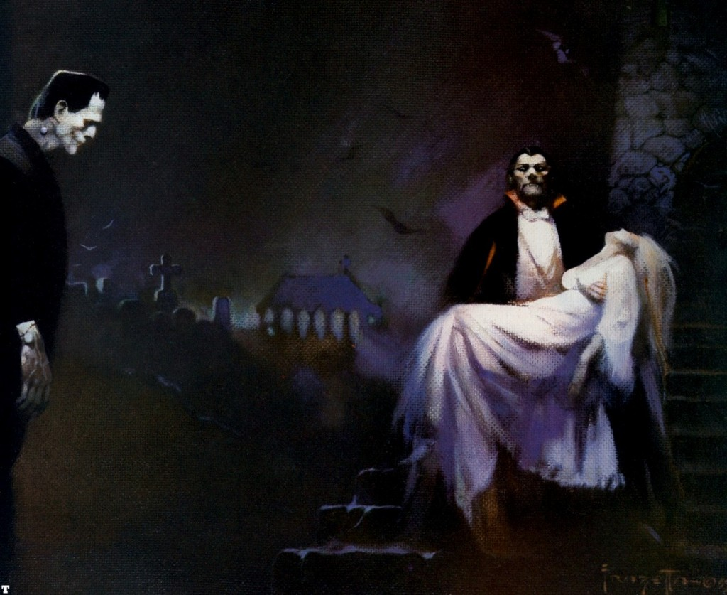 Frankenstein and Dracula, Frank Frazetta