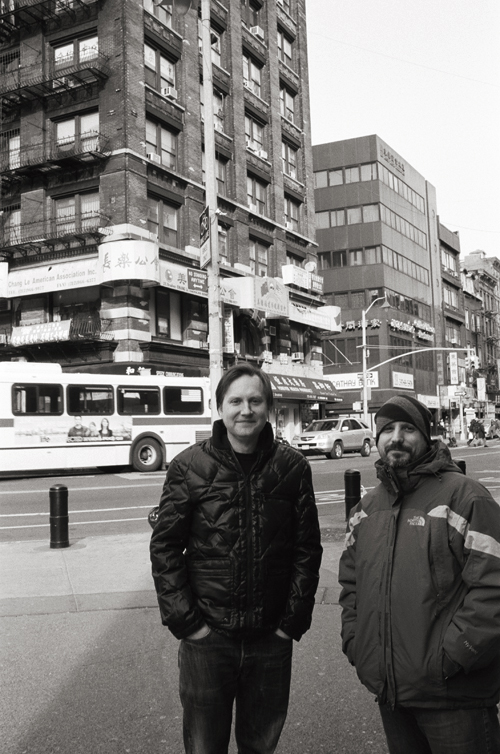 Not For Tourists editors Craig Nelson and Rob Talia, Chinatown; Leica M6 TTL 0.85, 35mm Summilux, Kodak Tri-X © Doug Kim