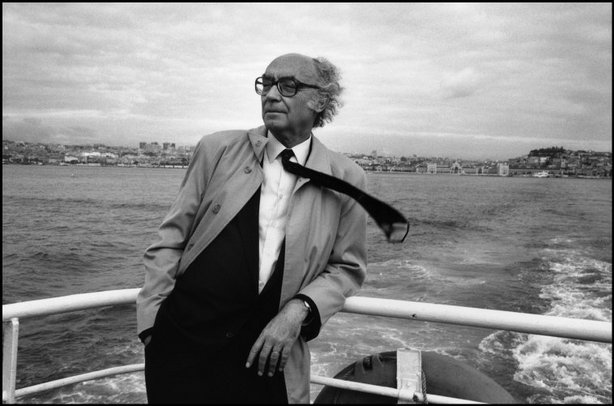 LISBON, Portugal—Writer José Saramago, 1990. © Jean Gaumy / Magnum Photos