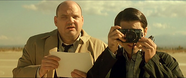 Pruitt Taylor Vince  and Jason Schwartzman with a Leica M6 and what appears to be a 28mm Elmarit, S1m0ne, 2002