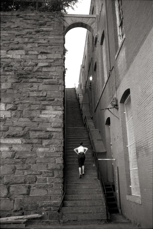 The Exorcist Steps, Washington, DC; Nikon F5, 29-70mm Nikkor, Agfa APX 400
