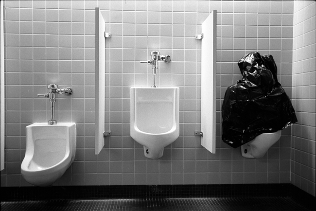 The Smithsonian, Arthur Sackler Gallery restroom, Washington DC; Leica M6 TTL 0.58, 35mm Summicron, Agfa APX 400