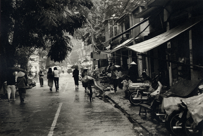 Still raining, Hanoi, Vietnam; Nikon N90, 28-70mm Nikkor, Agfa APX 400, printed on Agfa 111