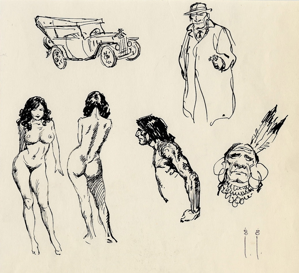 Sketch by Frank Frazetta