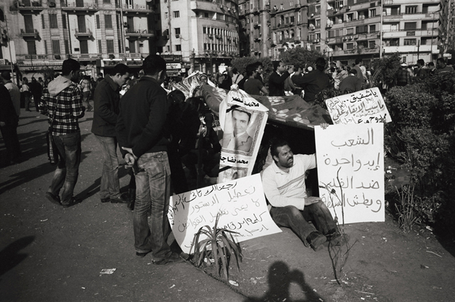 Tahrir Square, Cairo Egypt, February 2011; Leica MP 0.58, 35mm Summicron, Kodak Tri-X