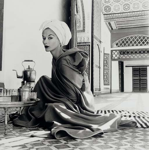 Woman in Palace (Lisa Fonssagrives-Penn), Marrakech, Morocco © Irving Penn, 1951