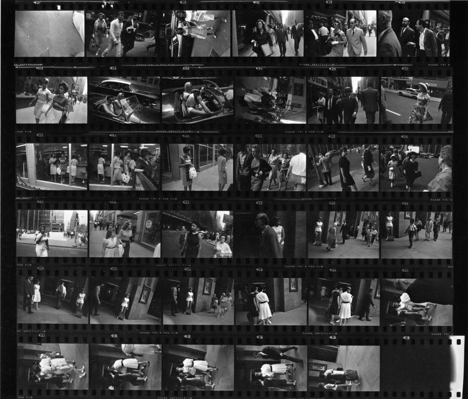Garry Winogrand Contact Sheet, 1961 © The Estate of Garry WInogrand