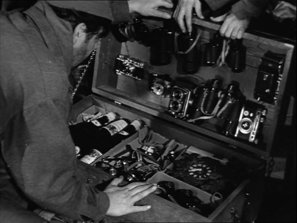 Sefton's foot locker with Leica IIIs from Billy Wilder's Stalag 17, 1953