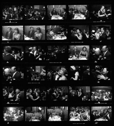 El Morocco Contact Sheet, New York City, Garry Winogrand, 1955 © The Estate of Garry Winogrand