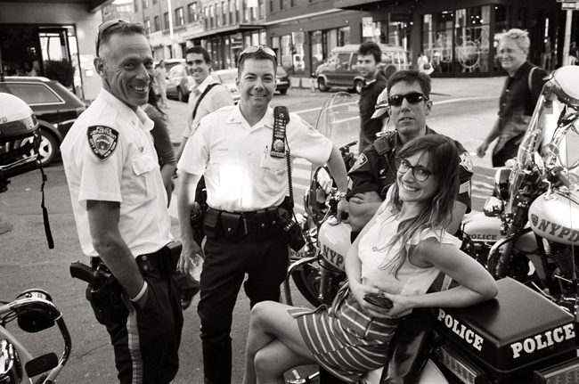 Lauren & the NYPD, Meat Packing District © Doug Kim; Leica MP 0.58, Kodak Tri-X, 35mm Summicron