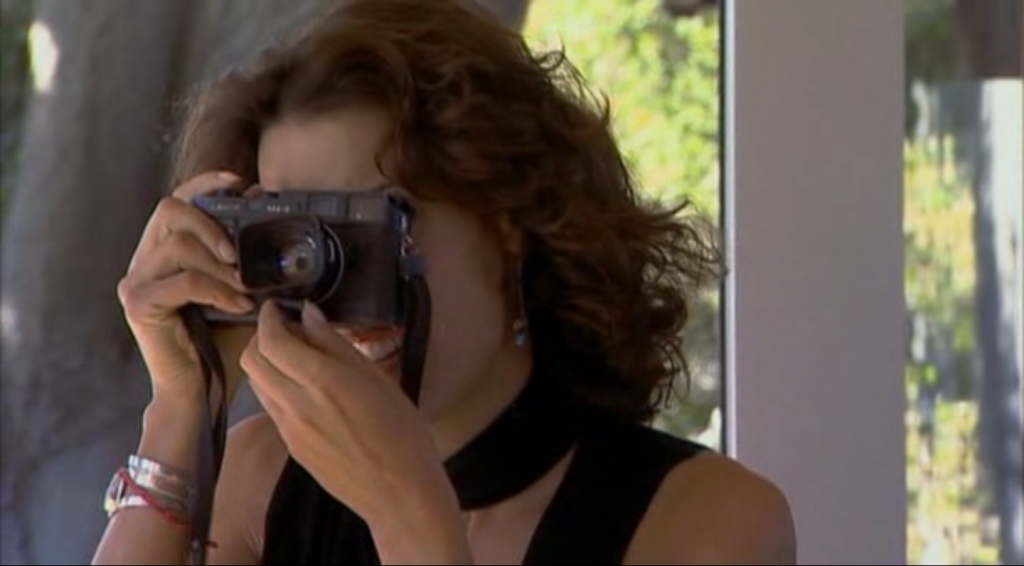 Jennifer Beals and an M4-2 and a 35mm Summilux-M ASPH in The Anniversary Party 2001