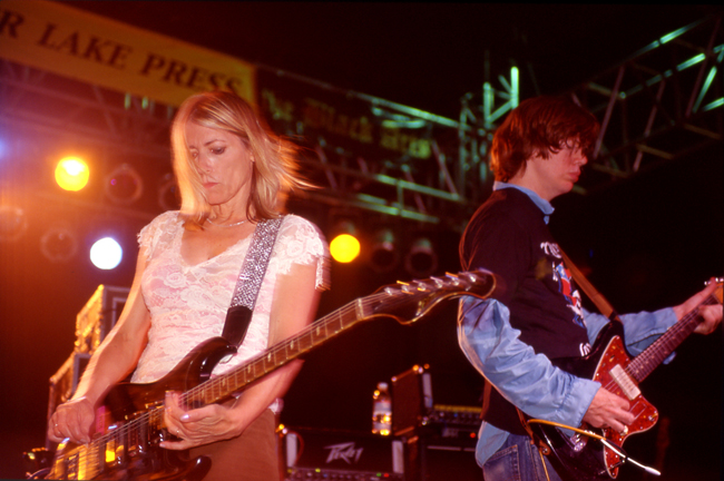 Kim Gordon, Thurston Moore, Sonic Youth, Sunset Junction 2002  Doug Kim; Nikon F5, Nikkor 80-20mm, Kodak Tri-X