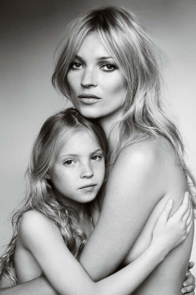 Lila Grace and Kate Moss by Mario Testino © Mario Testino
