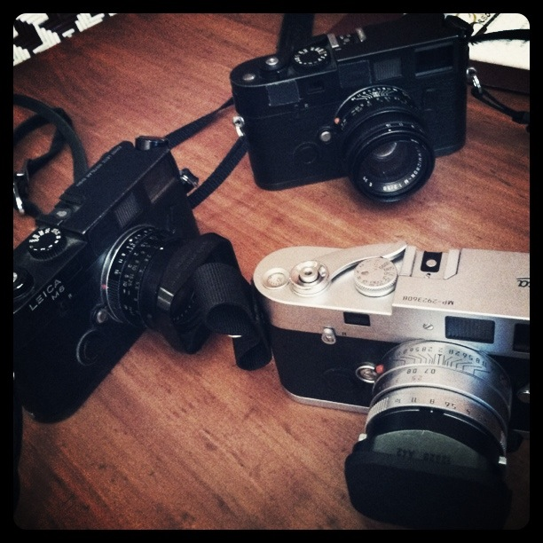 Leica M6, Leica M7, Leica MP in Long Beach, CA; iPhone Instagram