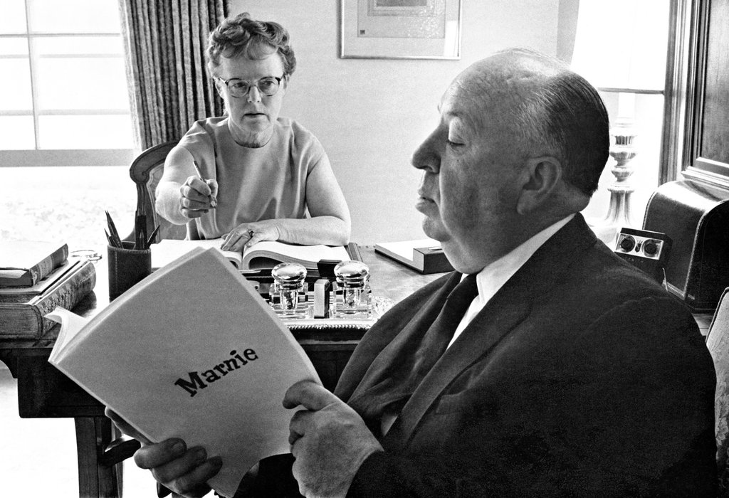 Alma and Alfred Hitchcock © Phil Stern