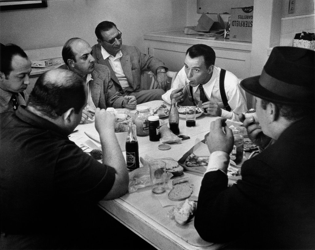 Frank Sinatra in his dressing room during the filming of Guys and Dolls, 1955 © Phil Stern
