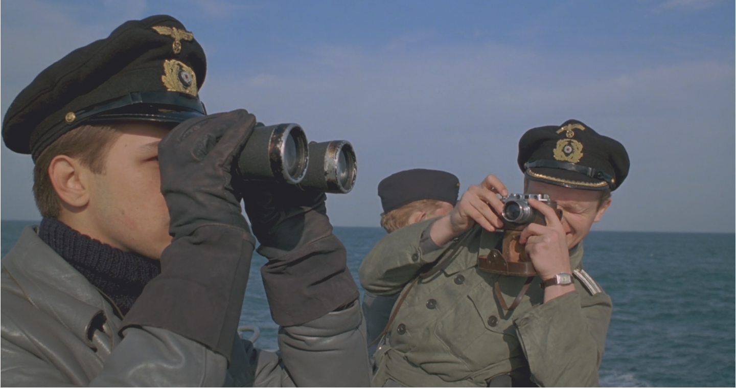 Herbert Grönemeyer wielding a chrome Leica III in Das Boot, 1981