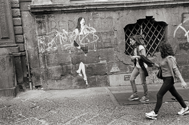 Via San Sebastiano; Leica MP 0.58, 35mm Summicron, Kodak Tri-X © Doug Kim