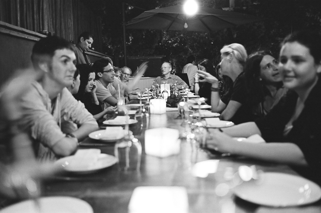 One of the many group dinners at the Mary Ellen Mark Oaxaca Workshop © Doug Kim