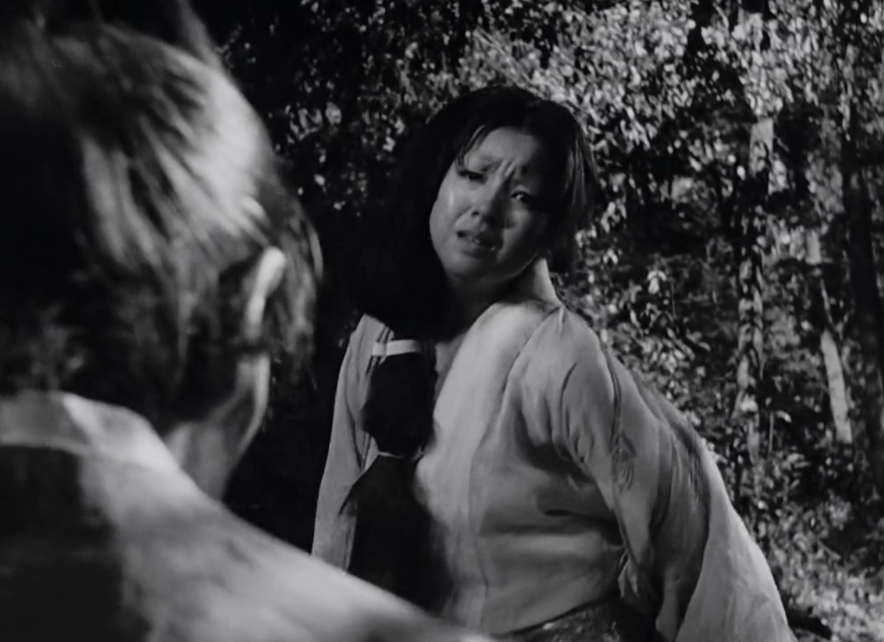 Masayuki Mori and Machiko Ky in Rashomon (1950)