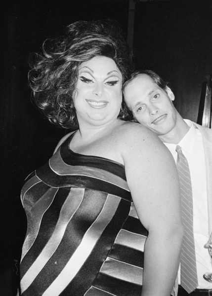 Divine and John Waters at Interferon, 1981 © Roxanne Lowit