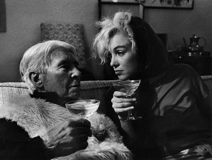 Carl Sandburg and Marilyn Monroe, 1962 © Arnold Newman